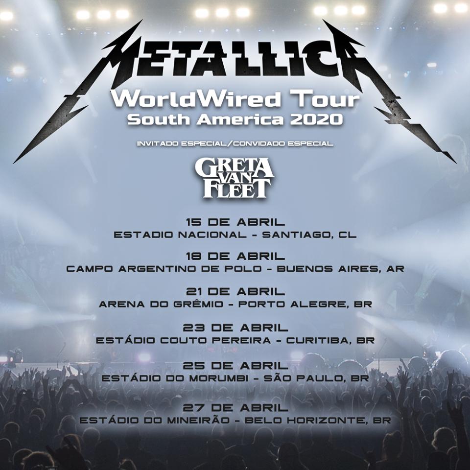 Fechas Metallica - OYR