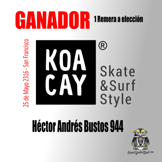 Ganador remera KoaCay - slide - OYR