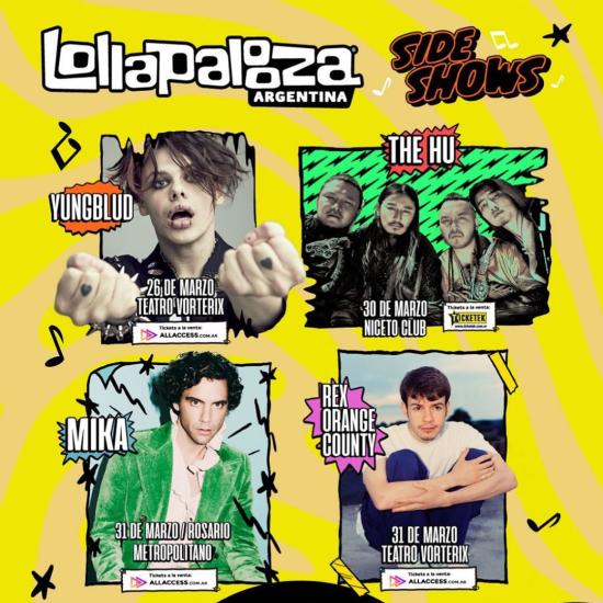 LollaAr - Más SideShows 2020 - OYR