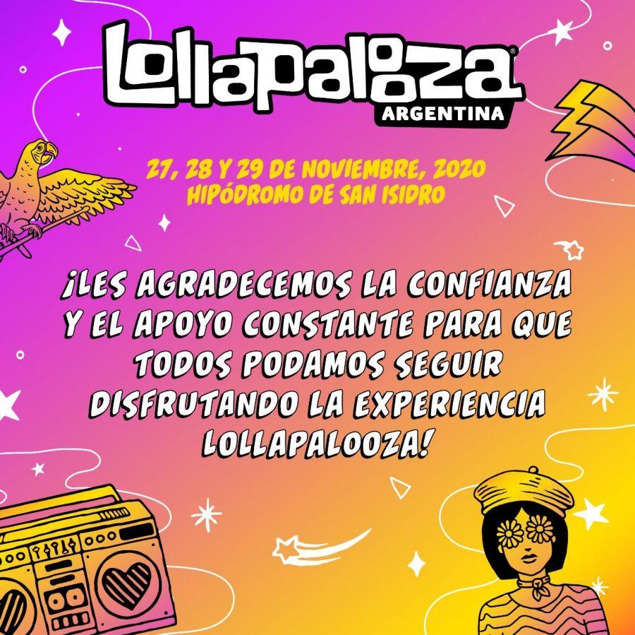 LollaAr reprogramado - OYR