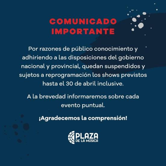 Comunicado Plaza de la Música - OYR