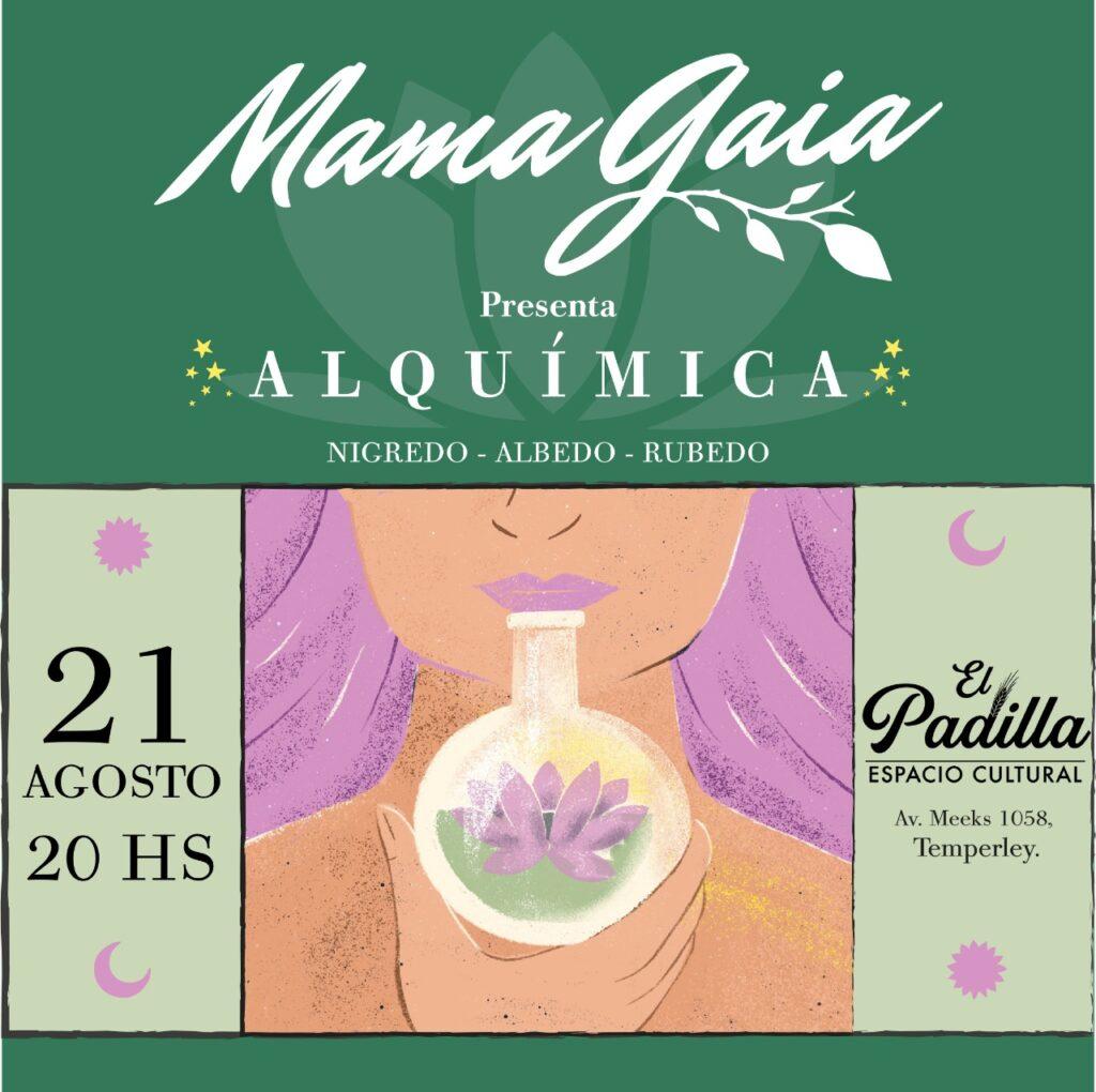 Flyer del próximo concierto de Mama Gaia - OYR